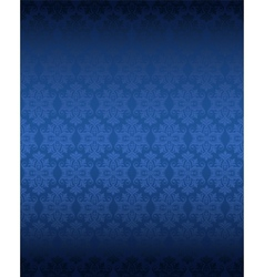 Luxury seamless blue floral wallpaper vector