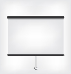 Projector blank screen vector image vector image