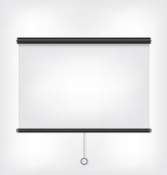 Projector blank screen vector