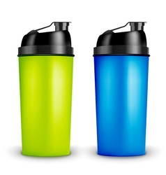 Protein shaker design template Two colors sport vector image