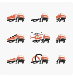 Set of truck vector image vector image