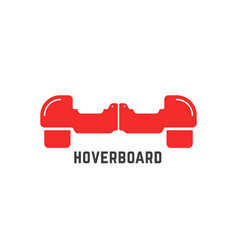 Simple red hoverboard logo vector