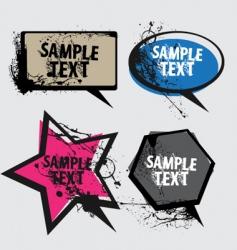 speech bubbles grunge vector image