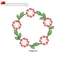 Tongan lei or tonga heilala flowers garland vector