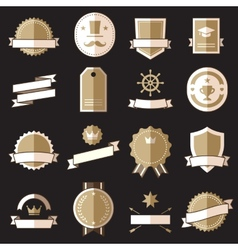 Vintage retro flat badges labels signs vector image