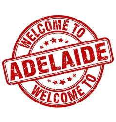 welcome to Adelaide vector image vector image