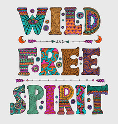 wild and free spirit vector image vector image