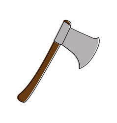 Woodcutters ax isolated icon vector
