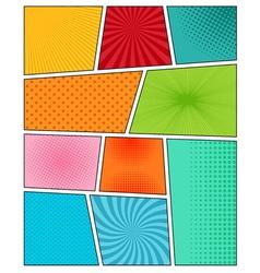 Big set of comic book backgrounds vector image