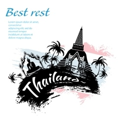 Travel Thailand grunge style vector image
