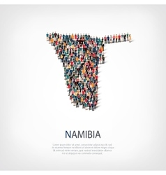 People map country namibia vector