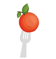 Fresh fruit isolated icon vector