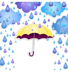Background with a yellow umbrella vector