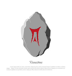 Rune stone on a white background in cartoon style vector