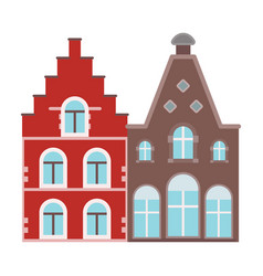 housing in belgiumthe dark belgian wolf belgium vector image