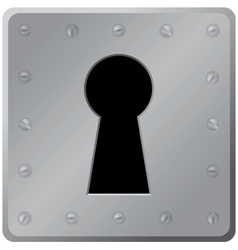 Keyhole on white background vector