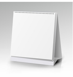 Table blank stand holder for menu paper vector