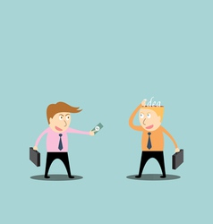 Businessman trading ideas vector