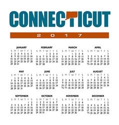 2017 Connecticut Calendar vector image vector image