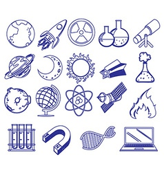 Different science images vector