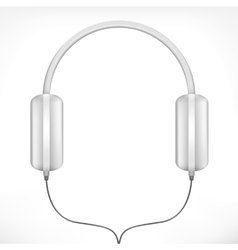 White headphones vector