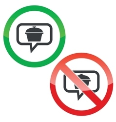 Pot message permission signs vector