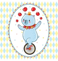 Wonderful of circus bear vector