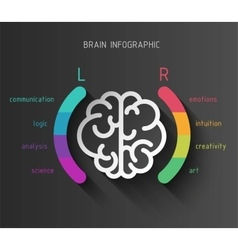 Brain infographic concept vector