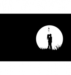 Love in moonlight vector