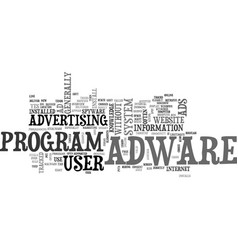 Adware overview text word cloud concept vector
