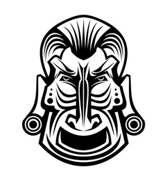 ancient tribal religious mask isolated on white vector image