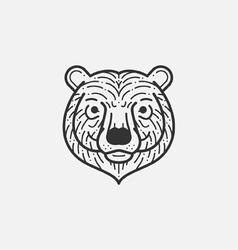 Bear line mono vector