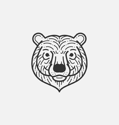 Bear Line Mono vector image