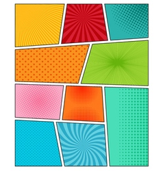 Big set of comic book backgrounds vector image vector image