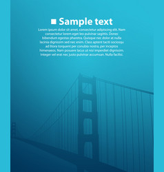 Bridge on the blue background vector