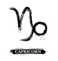 Capricorn symbol vector image vector image
