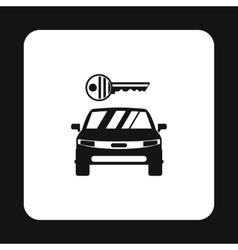 Car from impound yard icon simple style vector