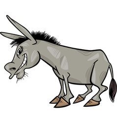 Cartoon donkey vector