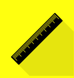 Centimeter ruler sign black icon with flat style vector