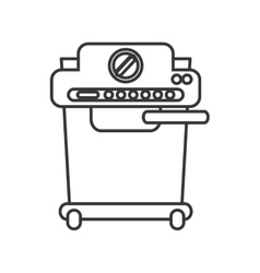 Coffee machine shop design vector