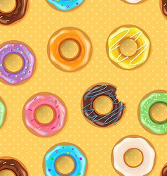 Colorful donuts seamless pattern vector image