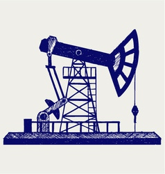 Concept of oil industry vector