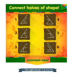 connect halves of shapes vector image vector image