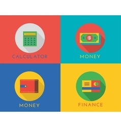 E-commerce money logo icons set shop vector