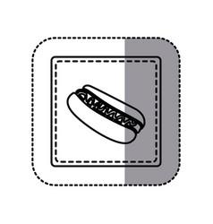 figure emblem hot dog icon vector image