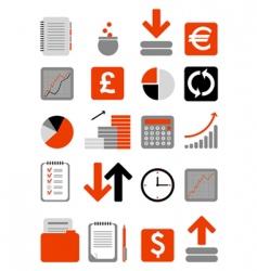 finance web icon vector image vector image