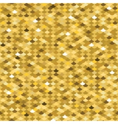 Golden fish scale seamless pattern vector image vector image
