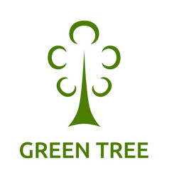green tree symbol vector image