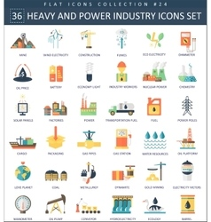 heavy and power industry color flat icon vector image