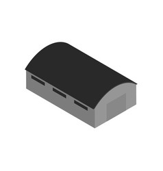 Isometric icon with warehouse building vector